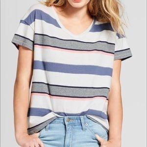 Striped pastel top
